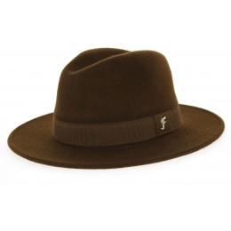 Fedora Brown Wool Felt Hat- Traclet