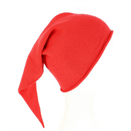 Long Chacarel Cotton Red Night Cap - Traclet