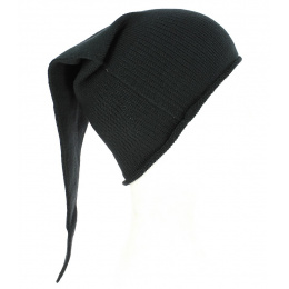 Long Chacarel Cotton Night Cap - Black - Traclet