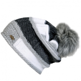Poznan Pompon Beanie Mohair & Wool Traclet