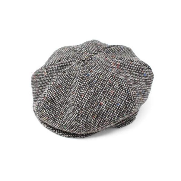 Irish cap gray chevron