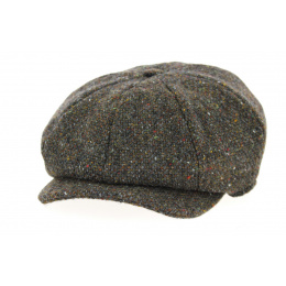 JP Tweed Brown Wool Cap - Hanna Hats