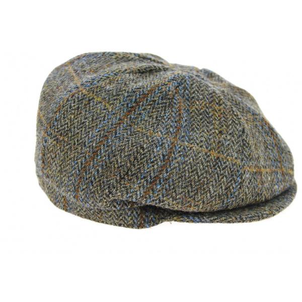 Casquette Irlandaise Birr A Carreaux Marron- Hanna Hats
