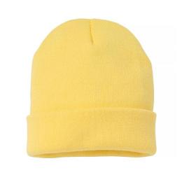 Yellow Acrylic Beanie - Traclet