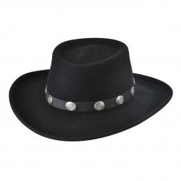 Chapeau Western Feutre Laine Noir- Bullhide