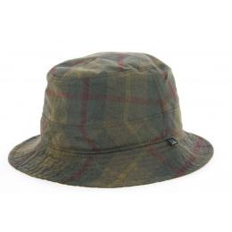 Chapeau Bob Huilé Goslar à Carreaux Kaki- Traclet