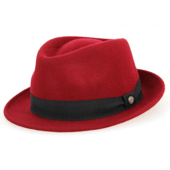 Trilby Unity Hat Felt Wool Bordeaux- Traclet