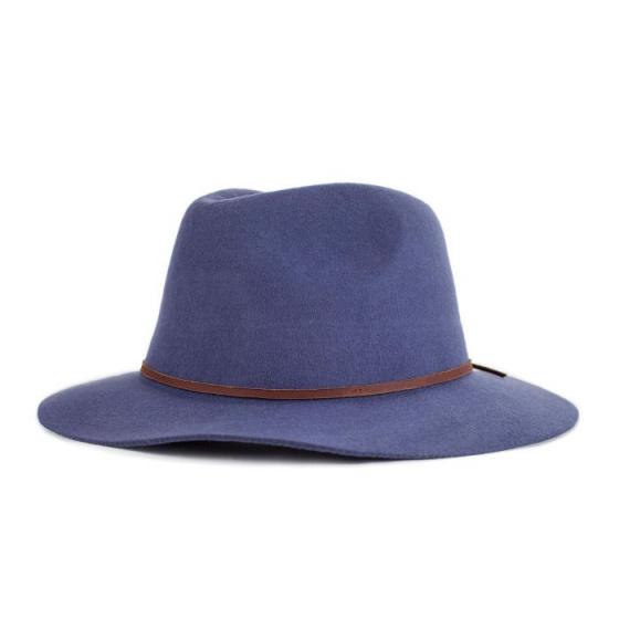 Chapeau Wesley Traveller Feutre Laine Bleu Marine- Brixton