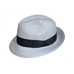 Chapeau Fedora Lando Paille Bleu- Bailey