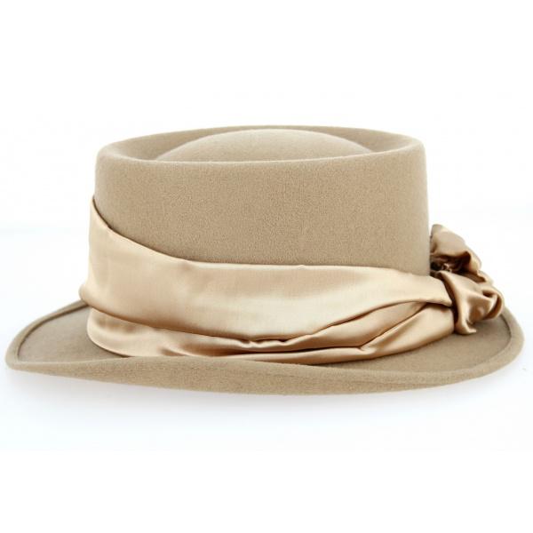 Chapeau Demi Haut de Forme Beige- Traclet