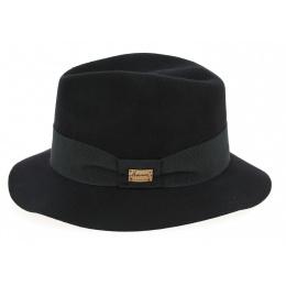 Fedora Maxwell Wool Felt Hat Black - Herman