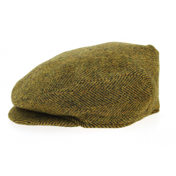 motif tweed à chevrons Casquette plate à chevrons pour enfants,casquette plate