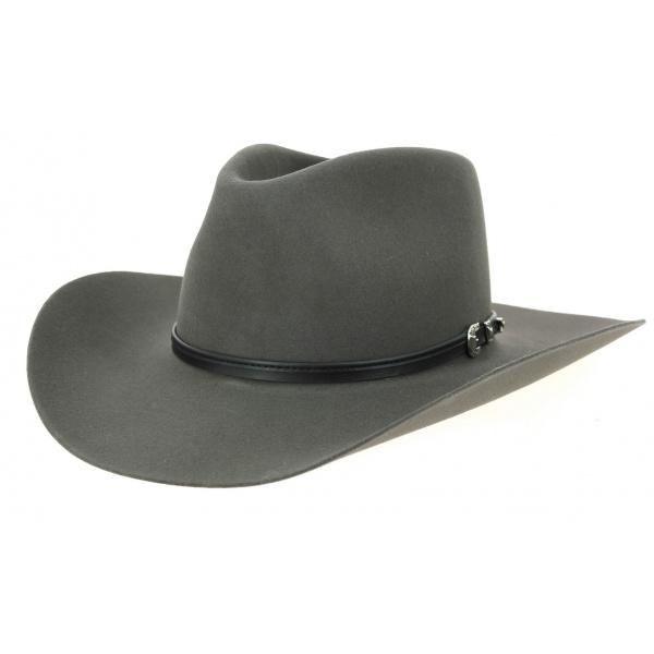 Chapeau Cowboy Seneca Buffalo 4X Feutre Laine Gris- Stetson