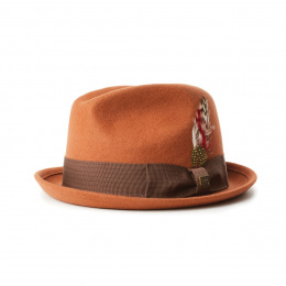 Trilby Hat Gain Wool Felt Hat Rust- Brixton