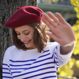 The Classic Burgundy French Beret- Le Béret Français