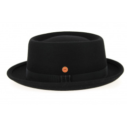 Porkpie Hat Ron Wool Felt Black- Mayser