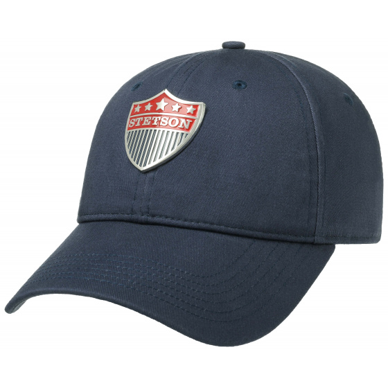 Cotton Baseball Cap Marine- Stetson