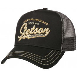Casquette Baseball Trucker Racing Team Coton Noire- Stetson
