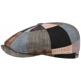 Hatteras Cap Patchwork Linen, Wool & Cotton - Stetson