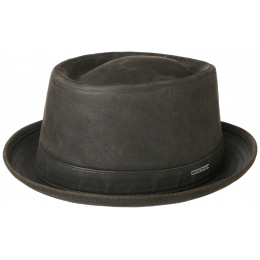 Porkpie Hat Cotton Khaki & Black - Stetson