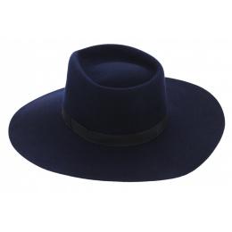 Chapeau Feutre Laine Bleu Marine- Traclet