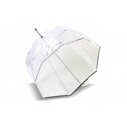 Parapluie Cloche Transparent Noir- Isotoner