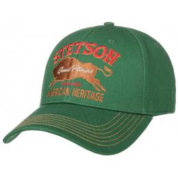 Casquette Baseball Great Plains Coton Verte- Stetson