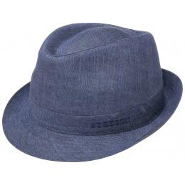 Dark Blue Linen Trilby Hat - Stetson