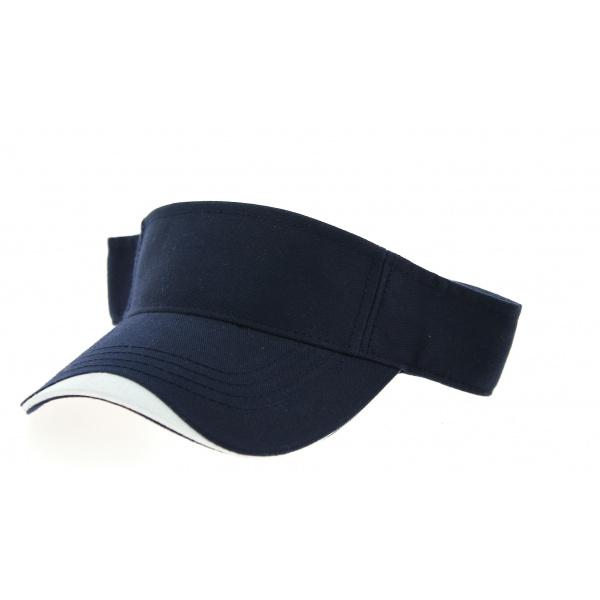 Visière Break Coton Bleu Marine- Traclet