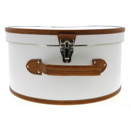 Hat Box White & Brown - Traclet