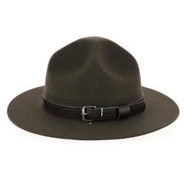 Dark Brown Wool Felt Scout Hat - Guerra 1855