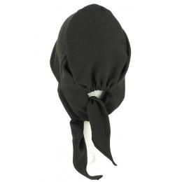 Turban Foulard Chimiothérapie Coton Noir- Traclet