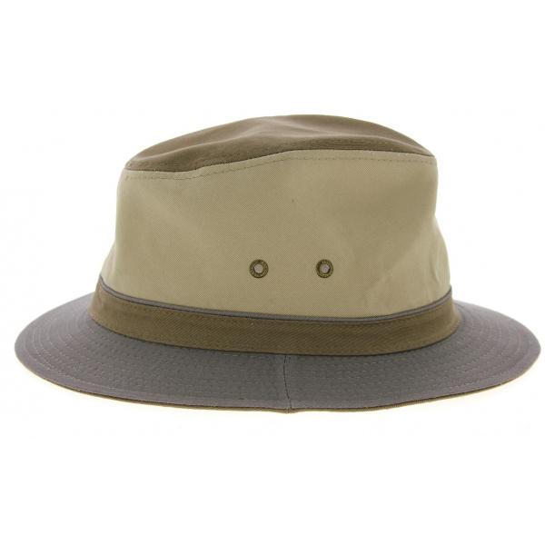 Chapeau Traveller Safari Coton Gris & Beige- Stetson