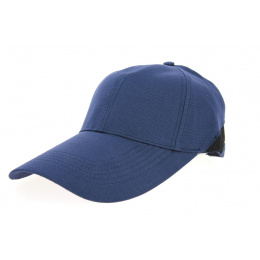 Large Visor Cap Cody Cotton Navy Blue - Traclet