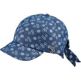 Flamingo Children's Blue Cotton Cap - Barts