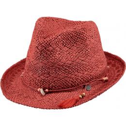 Trilby Hat Amethyst Straw Paper Terra- Barts