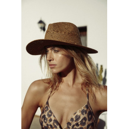 Traveller Hat Arday Straw Light Brown Paper Traveller Hat - Barts