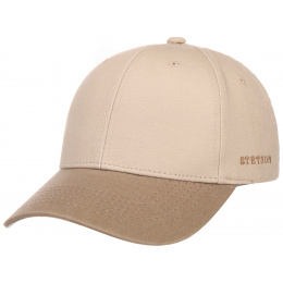 Beige Cotton Baseball Cap - Stetson
