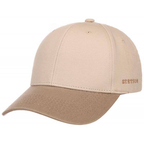 Beige Cotton Baseball Cap - Stetson
