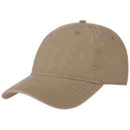 Ducor Dark Beige Cotton Baseball Cap - Stetson