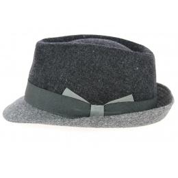 Cabbia Trilby Hat Dark Grey Wool- Traclet