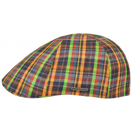 Texas linen check cap