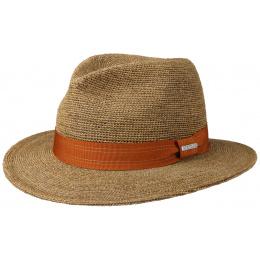 Hat Traveller Raphia Hat Brown Hook - Stetson