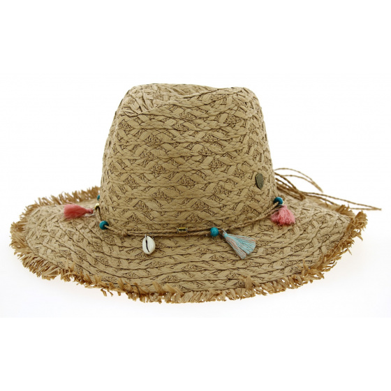 Chapeau Fedora Playa Paille Papier Tabac- Traclet