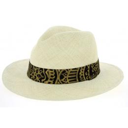 Chapeau Fedora Mandala Panama Naturel- Traclet