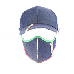 Kit Casquette Baseball + Masque Coton Noir Fantaisie- Traclet