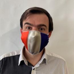 Masque France Fantaisie Élastique Blanc- Traclet