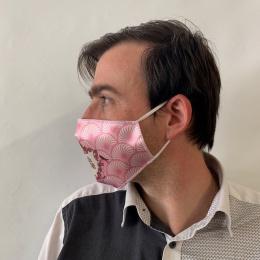 """Masque """"Je suis super """" Rose Fantaisie Élastique Blanc- Traclet"""