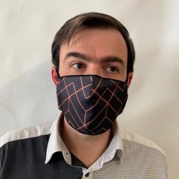 Masque Géométrique Fantaisie Élastique Noir- Traclet