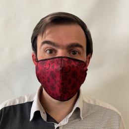 Masque Dentelle Fuchsia Fantaisie Élastique Noir- Traclet